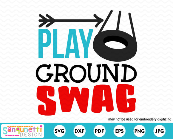 Playground Swag SVG Cutting file