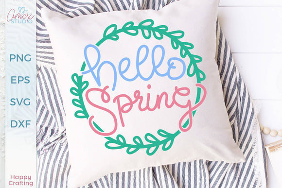 Hello Spring - Handlettered