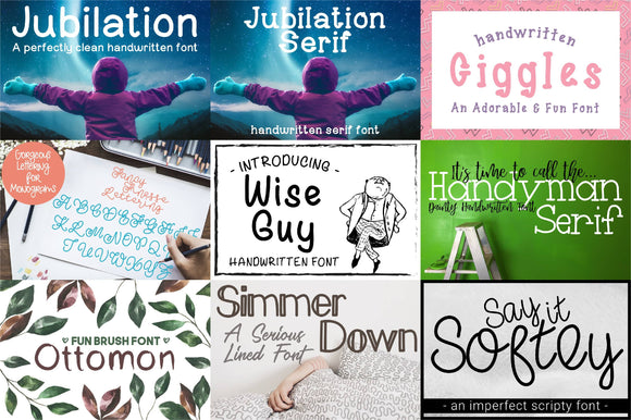 Premiere Font Bundle by Savanas Designs in TTF OTF and WOTF