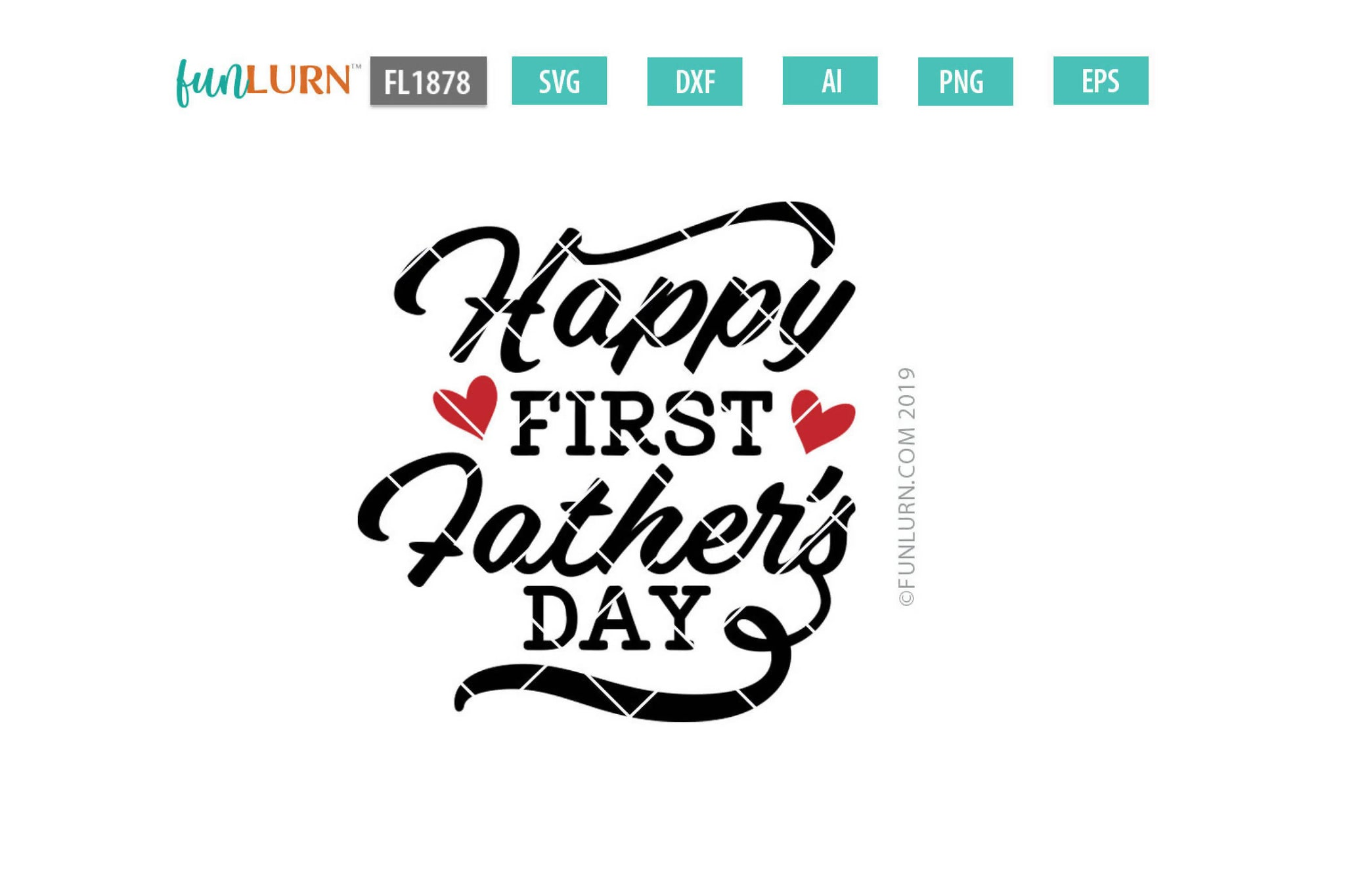 Free (don't worry—i won't tell if you won't.) dad, you're still the one i think of first when i have a question about something or when i just need. Happy First Father S Day Svg Cut File Svg Font Market SVG, PNG, EPS, DXF File