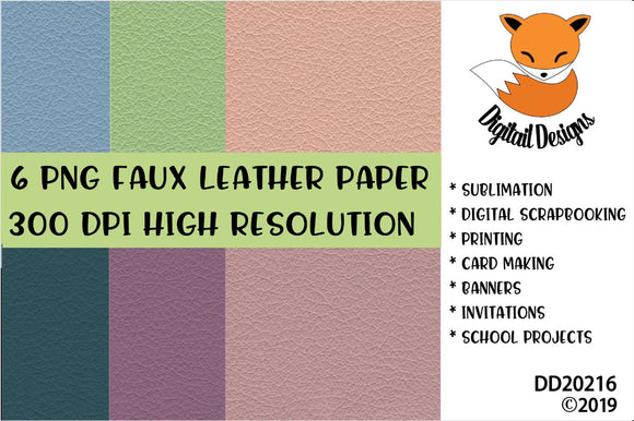 Faux Leather Digital Paper Pack