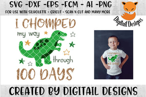 100 Days of School Dinosaur SVG