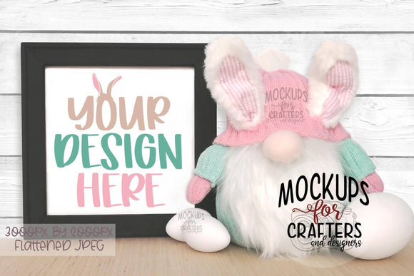 Reverse Canvas Mock-Up - Easter / Spring , Gnome