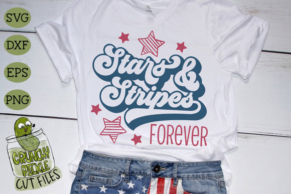 Stars and Stripes Forever Patriotic SVG Cut File