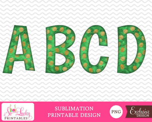 Christmas alphabet 3 watercolor printable sublimation design - Digital download - PNG - Printable graphic design