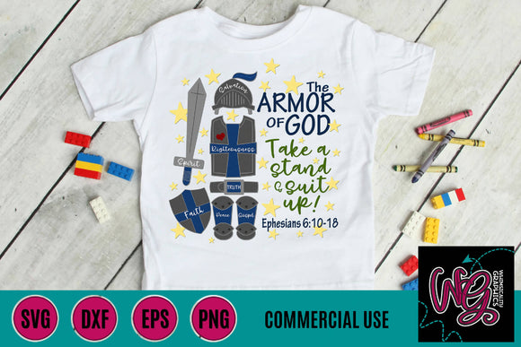 Armor of God Suit Up Cut File WG738