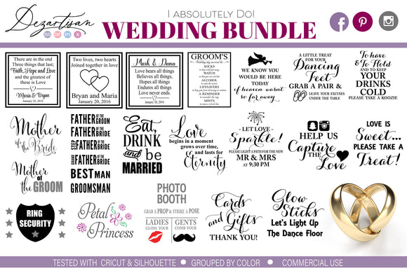 I do wedding bridal bundle SVG Cut Files