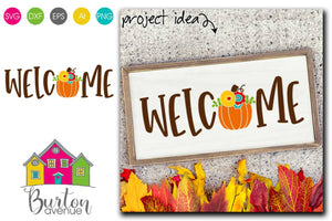 Welcome with Fall Pumpkin
