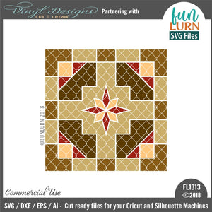 Wanderer Barn Quilt Pattern Cut File
