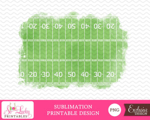 Football field background watercolor printable sublimation design - Digital download - PNG - Printable