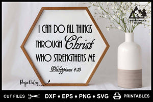I Can Do All Things Through Christ_Philippians 4-13 - DXF EPS PNG SVG