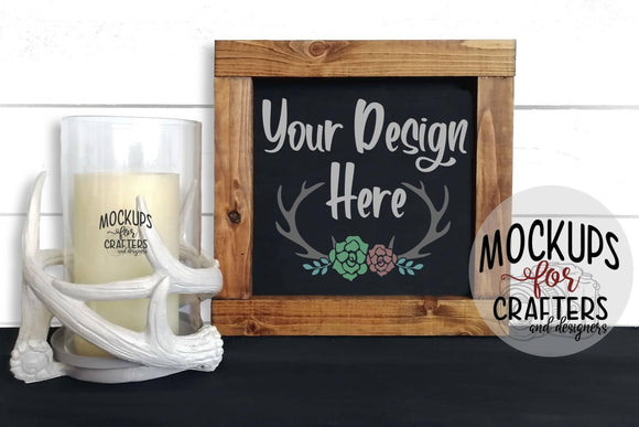 Wood Sign Mock-Up - Cabin/Rustic Theme