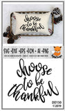 Choose To Be Thankful Fall SVG