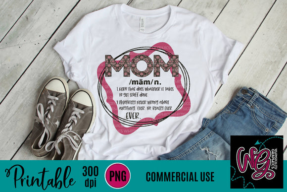 Definition of Mom Printable 300 dpi PNG WGP138
