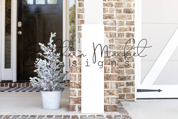 CHRISTMAS 10X36 FRONT PORCH WOOD FARMHOUSE DIGITAL MOCK UP STOCK PHOTOGRAPHY