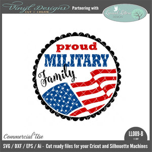 Proud Military Family Ornament Design