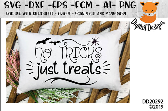No Tricks Just Treats Halloween SVG
