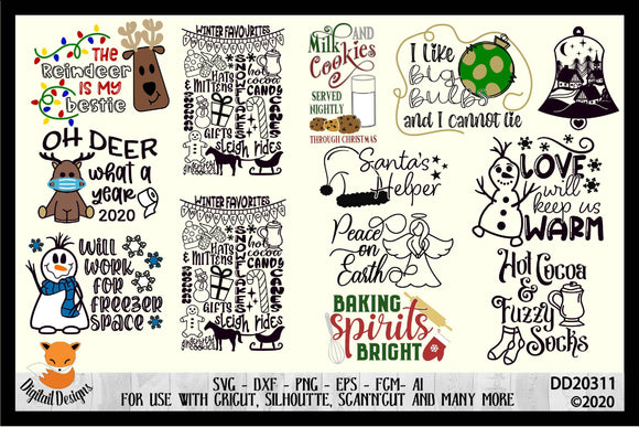 12 Christmas SVG Bundle