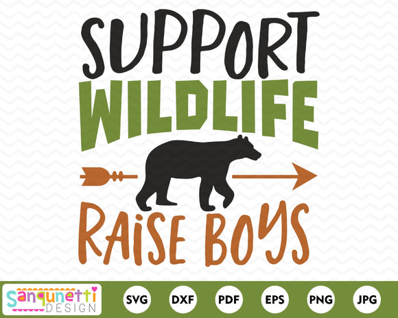 Support Wildlife Raise Boys SVG cutting file