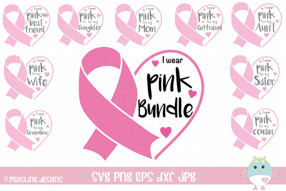 Breast Cancer Awareness Ribbon Bundle