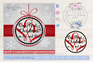 Our First Christmas as Mr. and Mrs. SVG Cut File