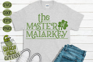 Master of Malarkey St. Patrick's Day SVG File