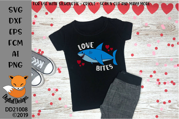 Love Bites Shark Valentine SVG