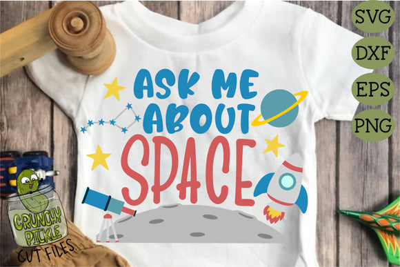 Ask Me About Space SVG