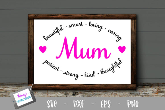 Mum SVG - Mum with arches