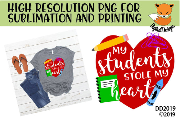 My Students Stole My Heart Teacher Valentine SVG