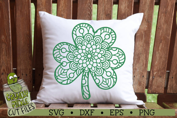 Mandala Clover - St. Patrick's Day SVG Cut File