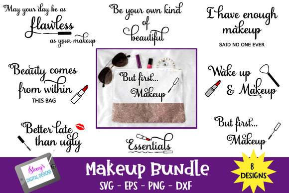 Makeup Bundle - 8 Makeup bag SVG Designs