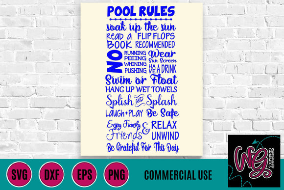 Pool Rules Cut File
