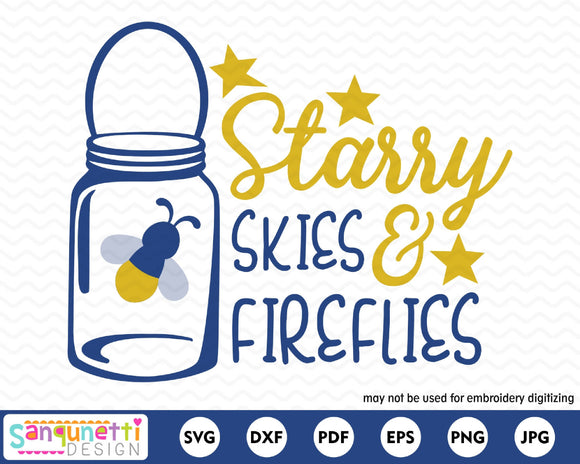 Starry Skies and Fireflies SVG Cutting file