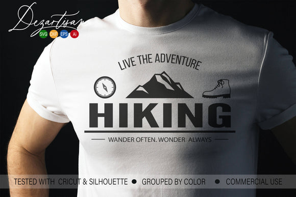 Live the Adventure Hiking SVG | DXF Cut File