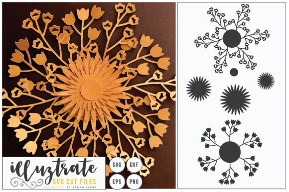 DIY Flower SVG Cut File