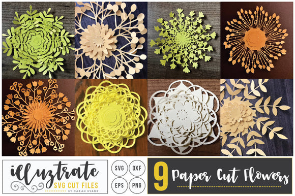 Paper Cutting Flower Bundle