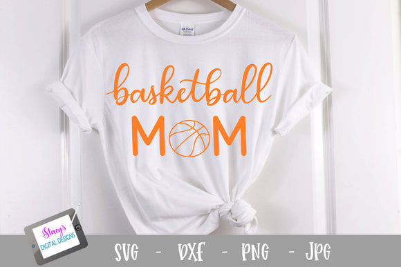 Basketball SVG - Basketball Mom SVG - Handlettered