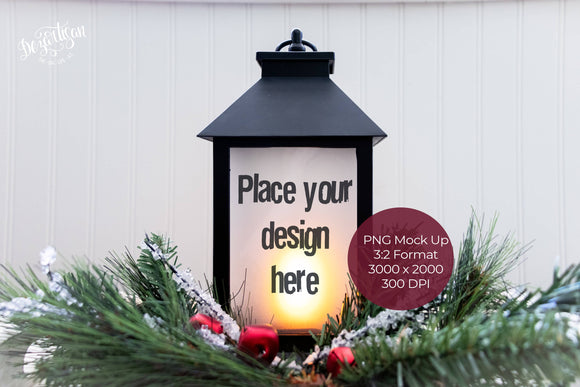 Christmas Lantern PNG Mock Up