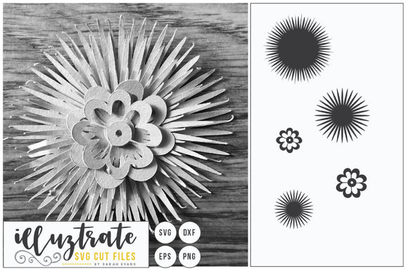 Paper Cut Flower SVG Cut File