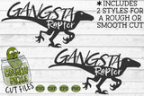 Gangsta Raptor Dinosaur svg