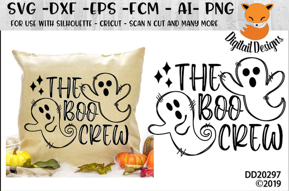 The Boo Crew Ghost Halloween SVG
