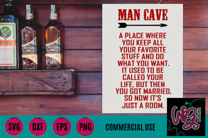 Man Cave Cut File