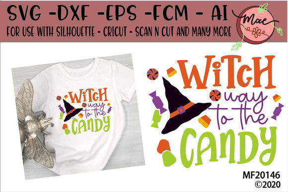 Witch Way To The Candy Halloween SVG