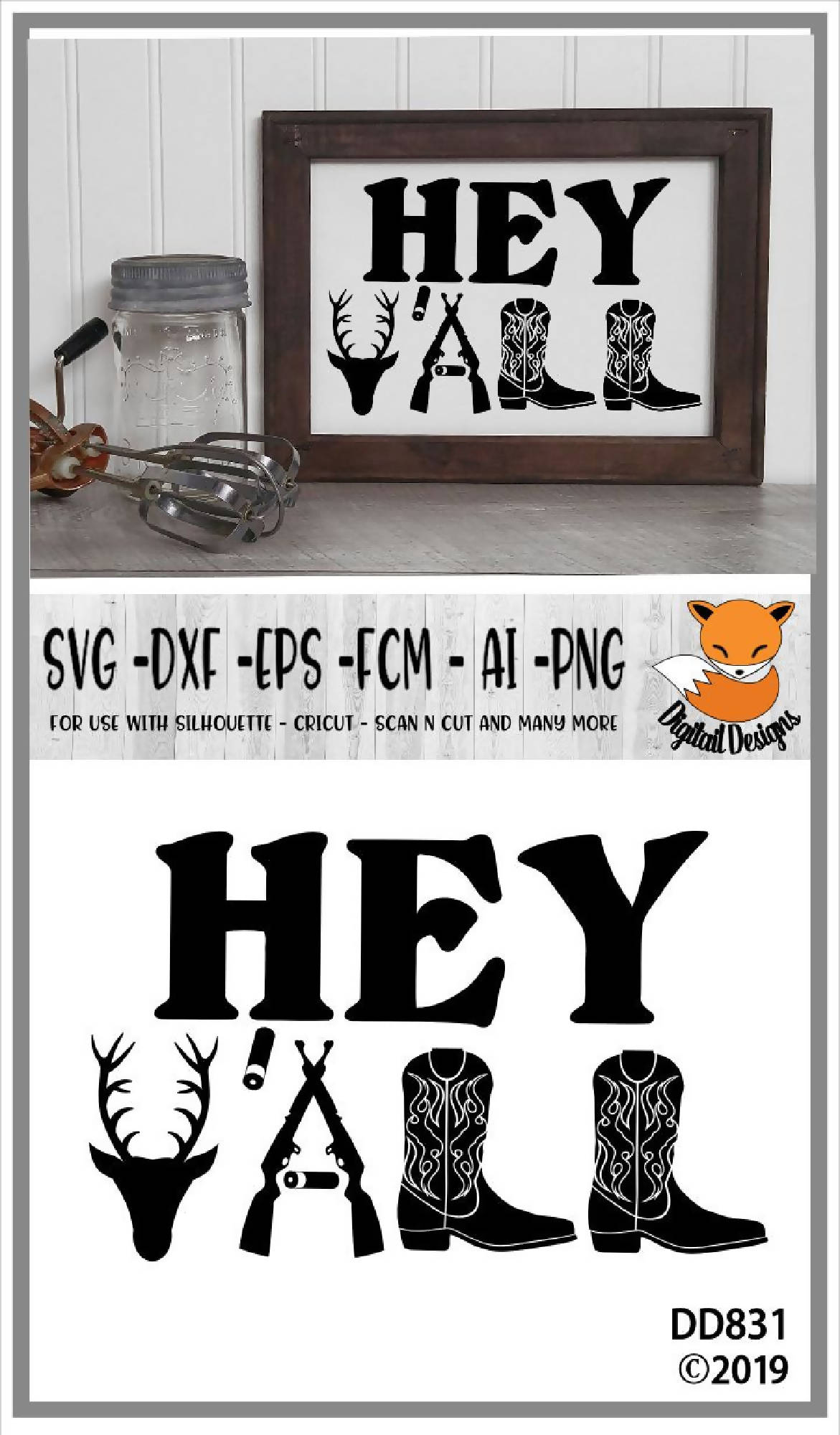 Hey Y All Southern Country Svg Svg Font Market
