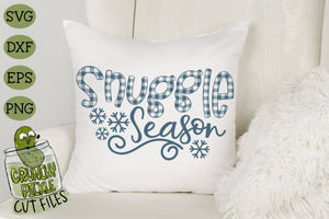 Buffalo Plaid Snuggle Season SVG File