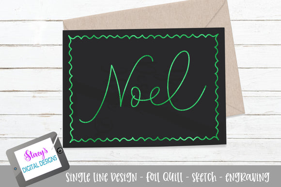 Noel SVG - Foil quill / sketch - Christmas SVG