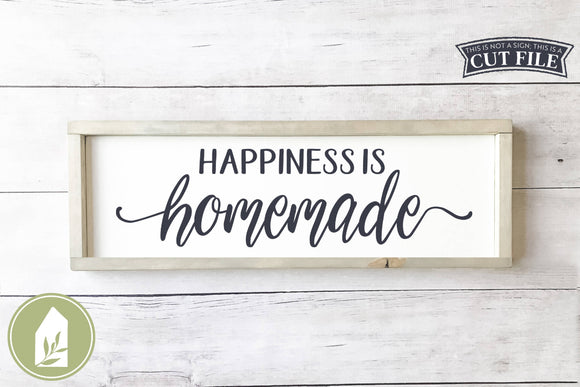 Happiness is Homemade SVG, Farmhouse Kitchen SVG