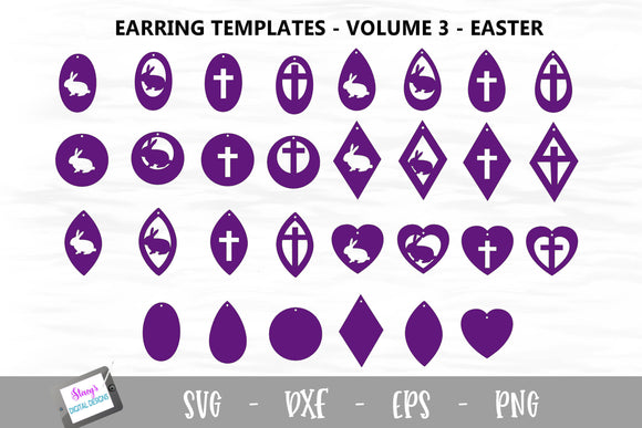 Earring Bundle - Vol. 3 - 30 Easter Earring Templates