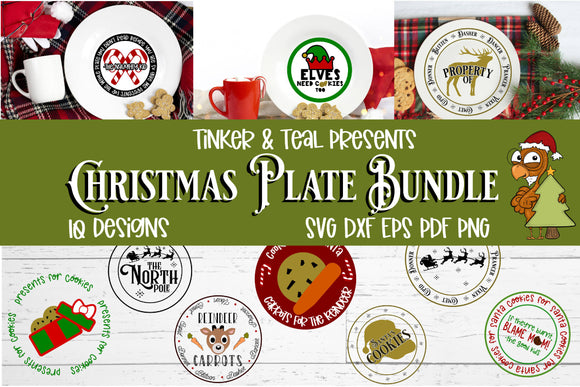 Christmas Plate SVG Bundle